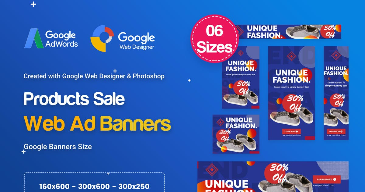 Download Product Sale Banners HTML5 D51 Ad - GWD & PSD by iDoodle