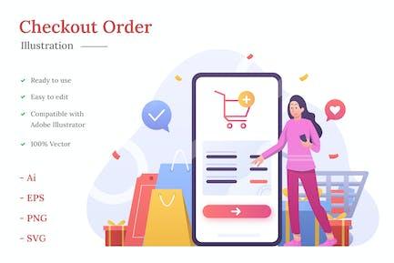 Checkout Order Illustration