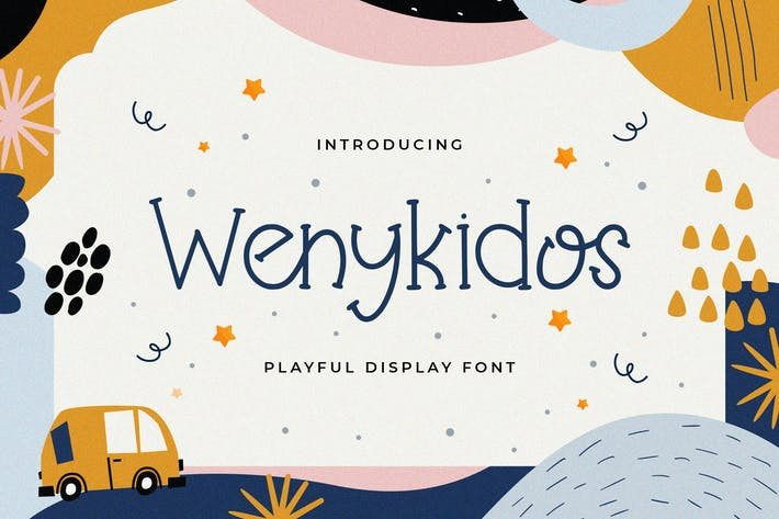 Thumbnail for Wenykidos - Playful Display Font