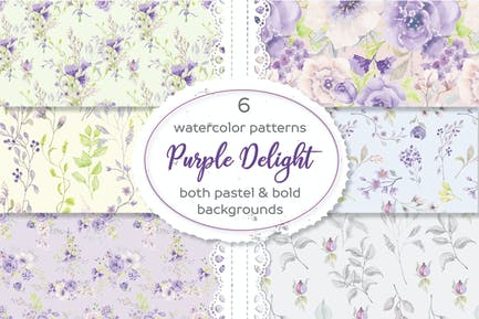 Floral Patterns in Purple and Blush