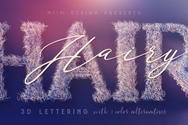 Hairy – 3D Lettering