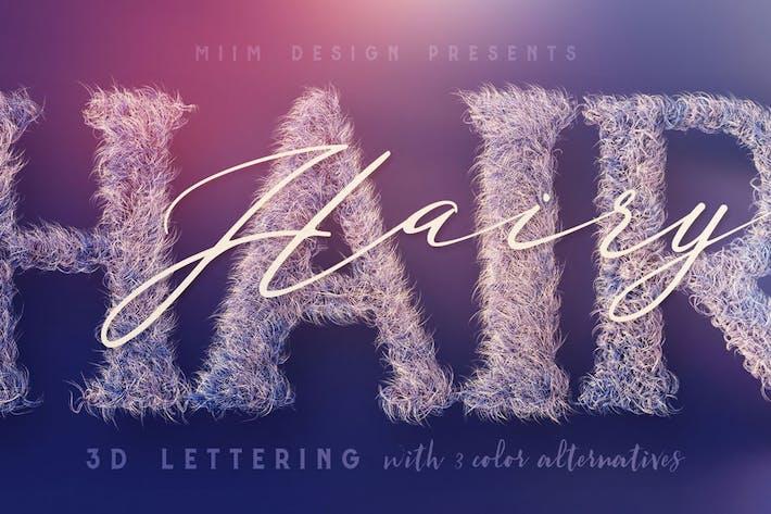 Thumbnail for Hairy – 3D Lettering