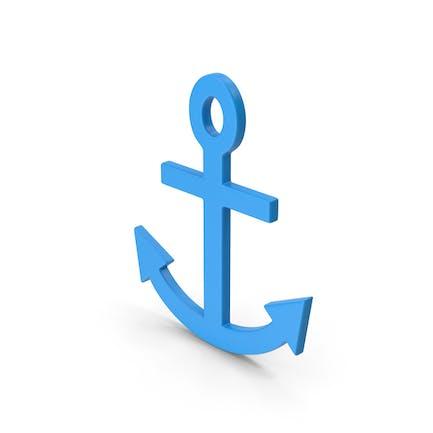Symbol Anchor Blue