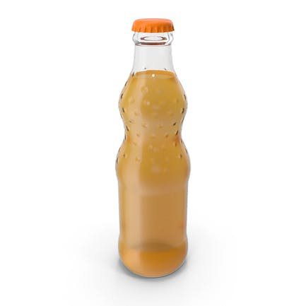 Orange Soda Glass Bottle