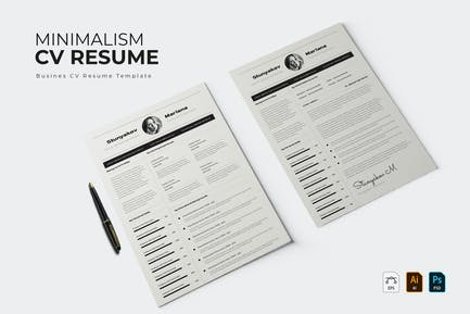 Bw Minimalism   CV & Resume