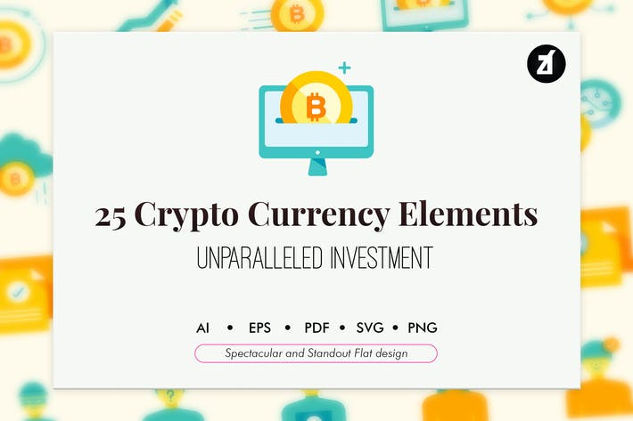 Thumbnail for 25 Crypto currency elements