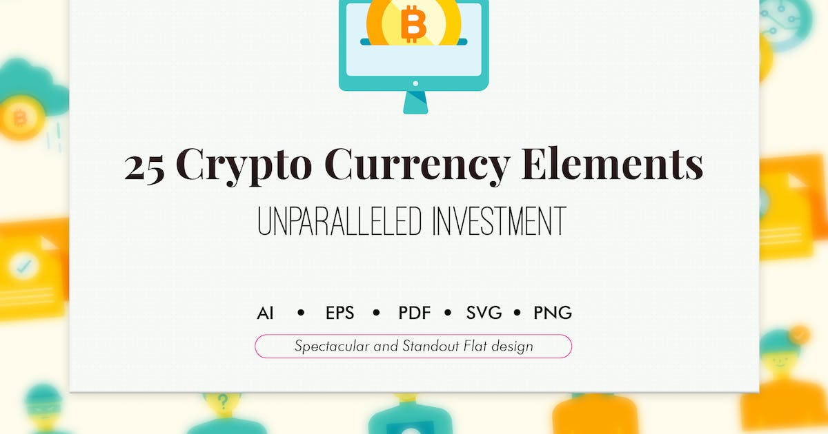 Download 25 Crypto currency elements by Chanut_industries