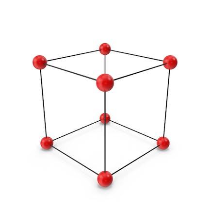 Estructura de celosía cúbica de cristal Simple.