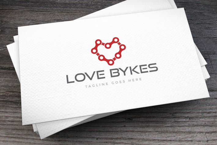 Thumbnail for Love Bykes Logo Template