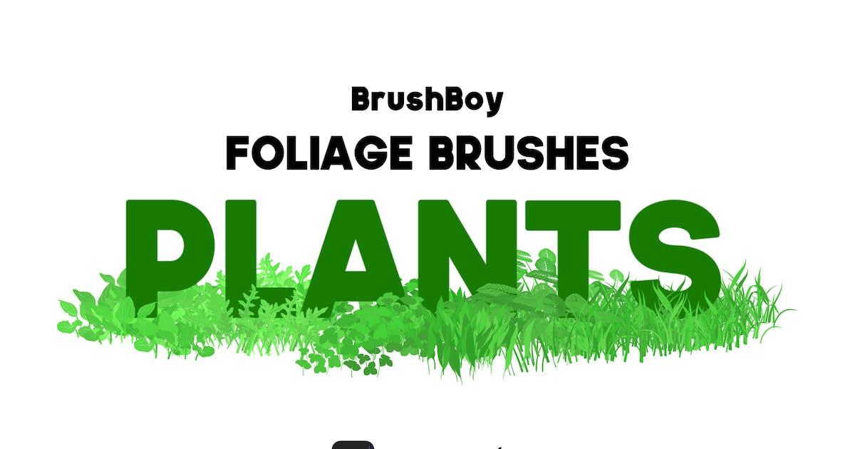 Download Procreate Foliage Brushes - Plants by BrushBoy