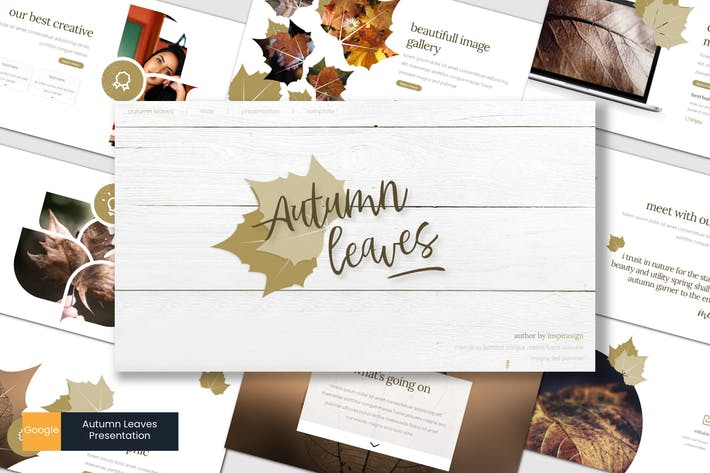 Thumbnail for Autumn Leaves - Google Slides Template