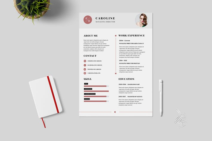 Thumbnail for Minimal Resume / CV Template