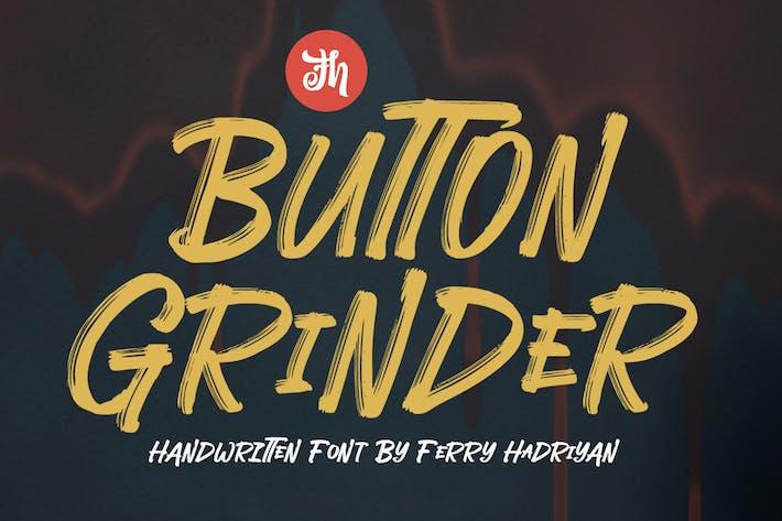 Thumbnail for Button Grinder - Display Handwritten Font