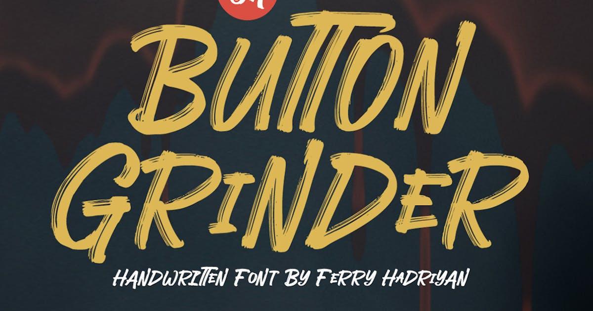 Download Button Grinder - Display Handwritten Font by Voltury