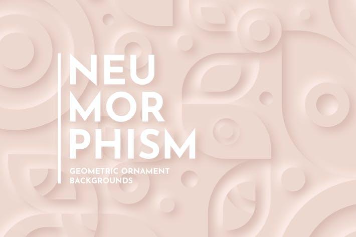 Thumbnail for Нейморфизм - Геометрический фон орнамента