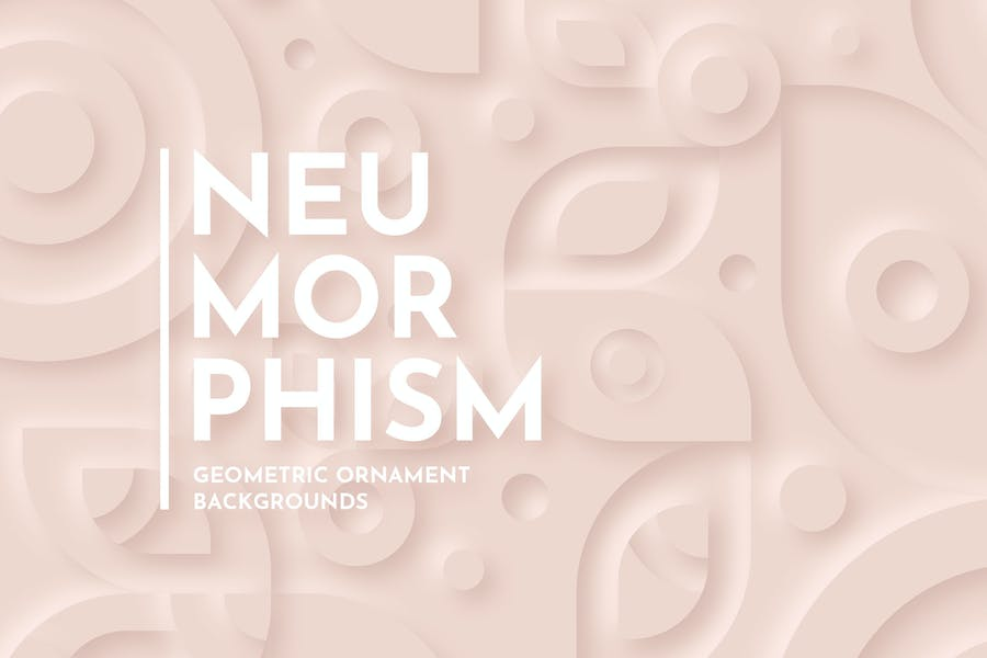 Neumorphism - Geometric Ornament Background Set