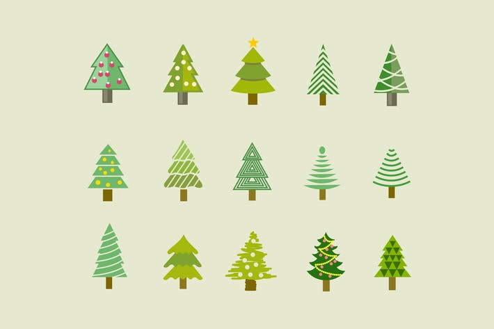 Thumbnail for 15 Christmas Tree Icons