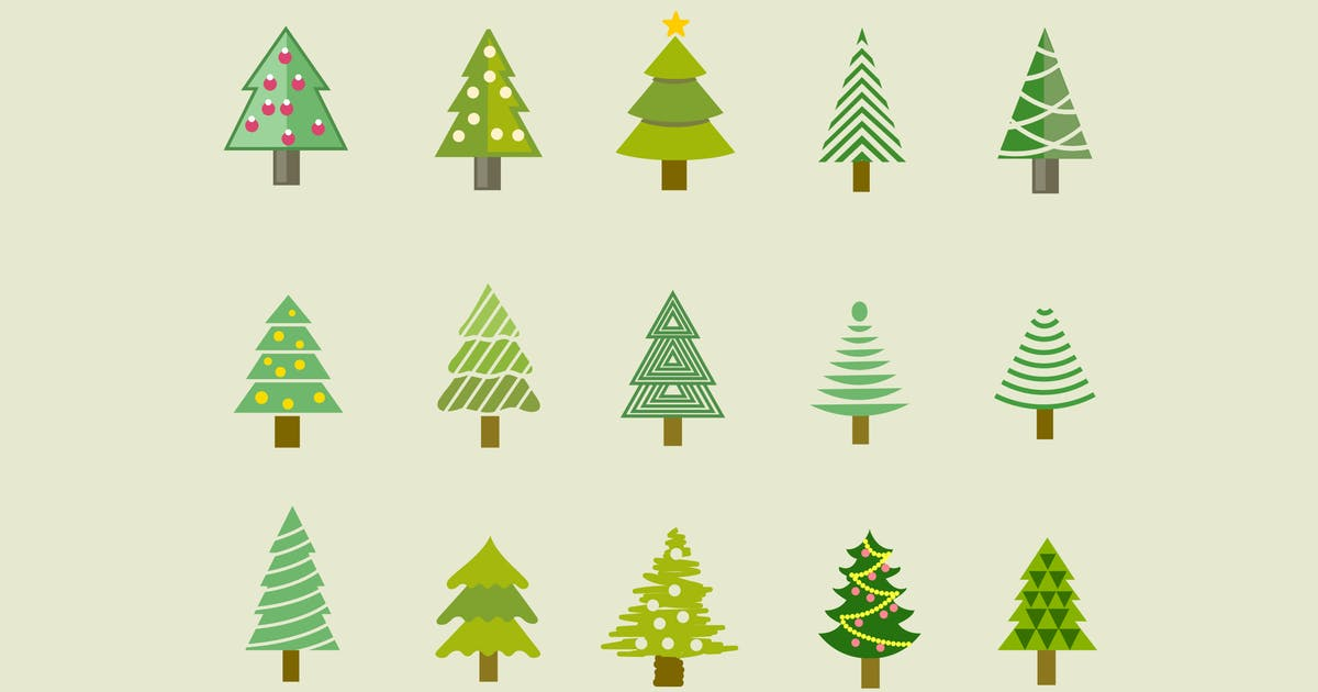 Download 15 Christmas Tree Icons by Unknow