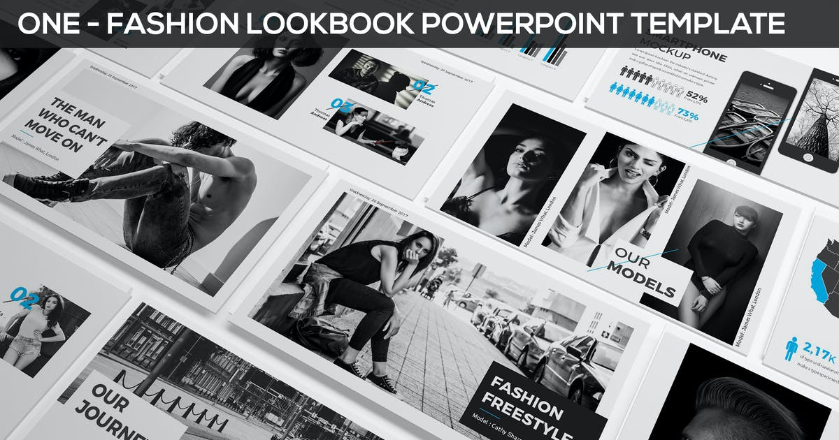 Download ONE - Fashion & Photography Presentation Template by SlideFactory