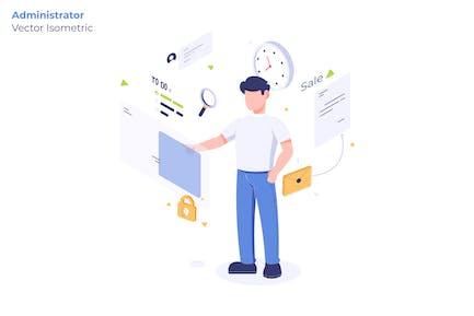 Administrator - Vector Illustration