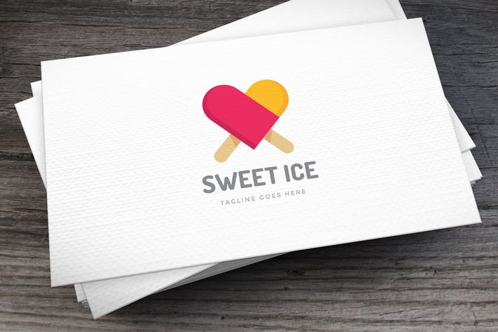 Cover Image For Sweet Ice Logo Template