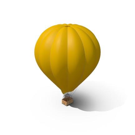 Gelber Heißluftballon