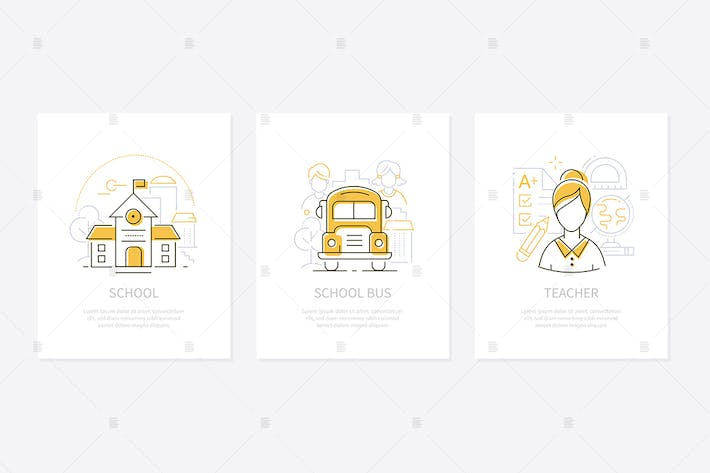 Thumbnail for Education and learning - line design style banners