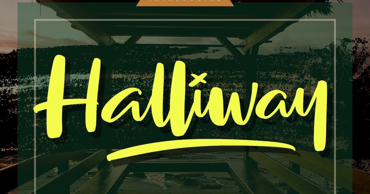 Download Halliway | Brush Script Font by Vunira
