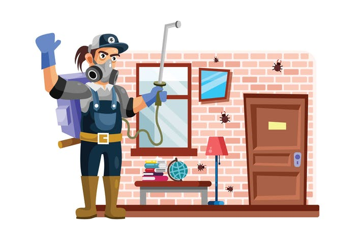Thumbnail for Exterminator or Pest Control Vector Illustration