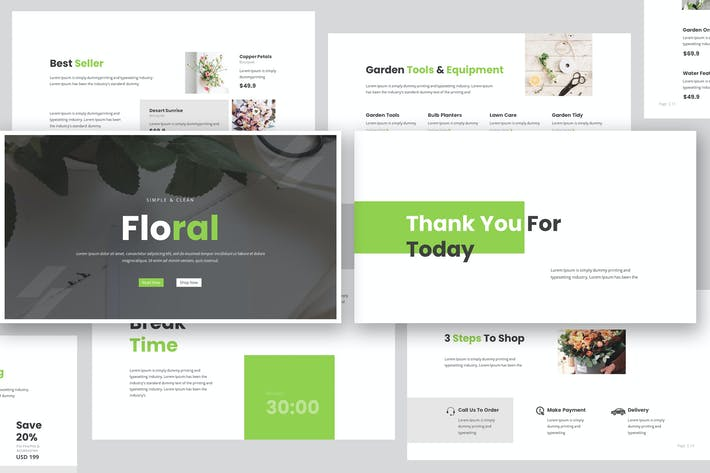 Thumbnail for Florist Keynote PräsentationsVorlage