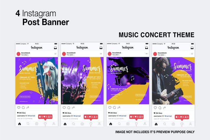 Thumbnail for Music Concert Instagram Post