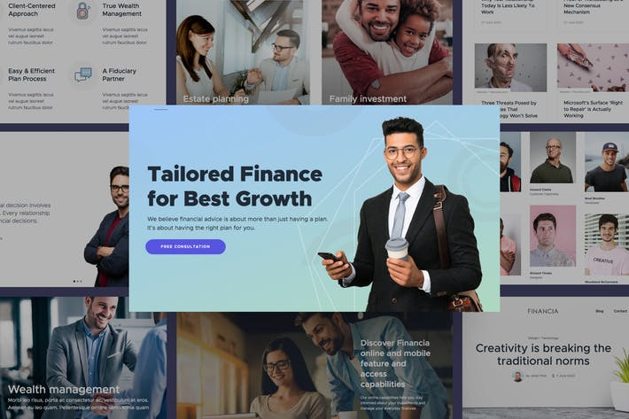 Thumbnail for Quaid - Financial and Accounting HTML Templates