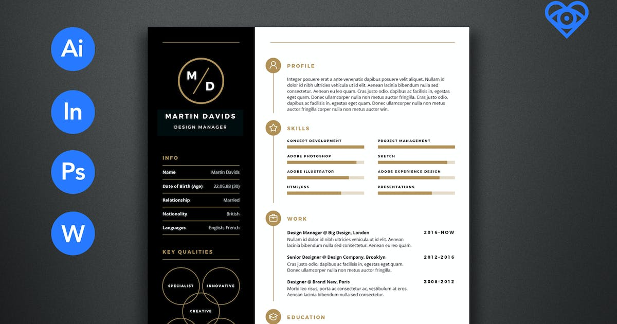 CV Resume By Ikonome On Envato Elements