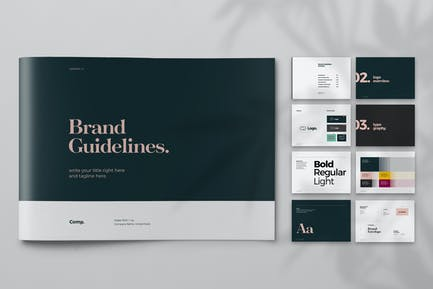 Black and Green Brand Guideline Brochure Layout