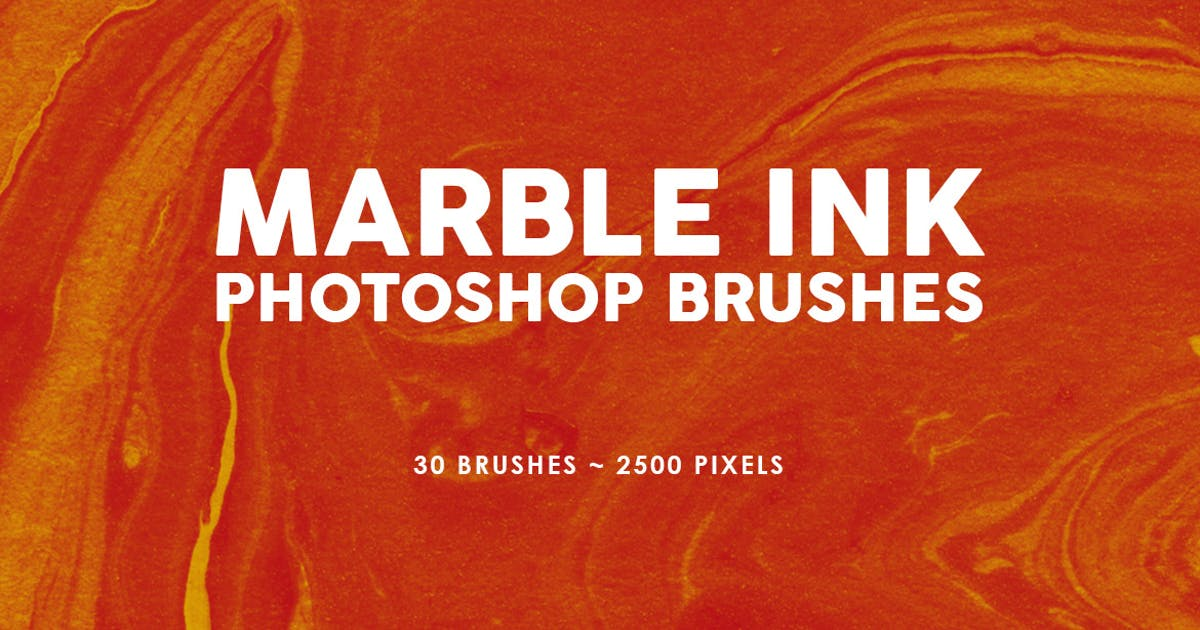 Download 30 Marble Ink Photoshop Brushes Vol. 1 by M-e-f