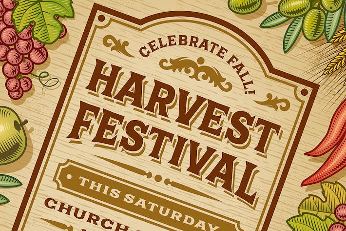Thumbnail for Vintage Harvest Festival Poster