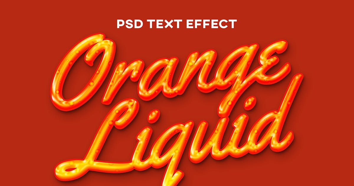 Download Orange fluid text effect by wudelmbois