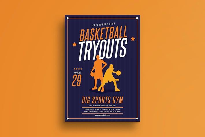 Thumbnail for Basketball Tryouts Flyer
