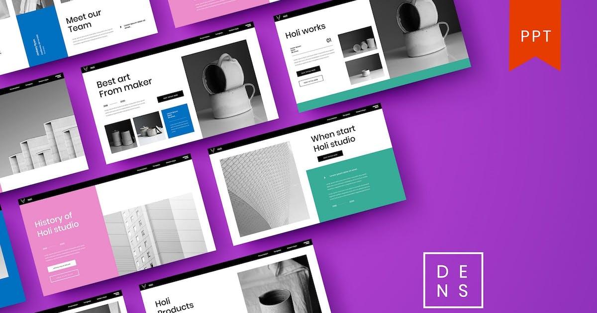Holi – Business PowerPoint Template by DensCreativeStudio