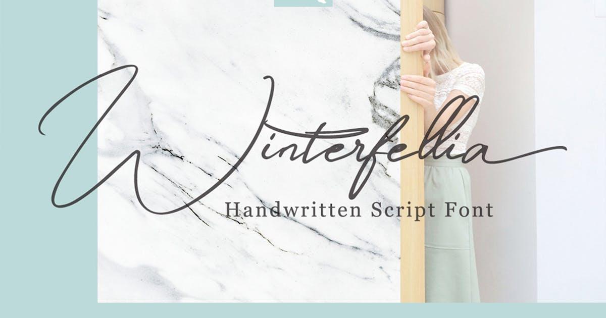 Download Winterfellia - Handwritten Font by Voltury