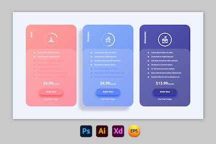 Bold – Pricing Table Design