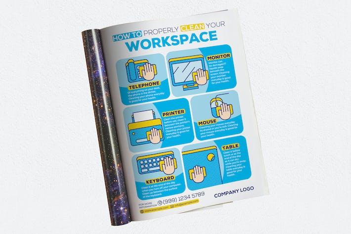 Thumbnail for Comment nettoyer correctement votre espace de travail Publicités Magazine