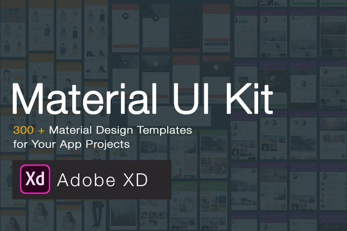 Thumbnail for Material Design UI KIT - 300+ for XD