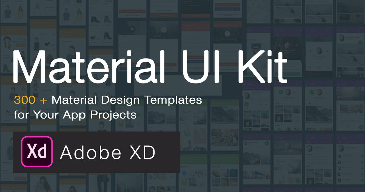 Download Material Design UI KIT - 300+ for XD by WPBootstrap