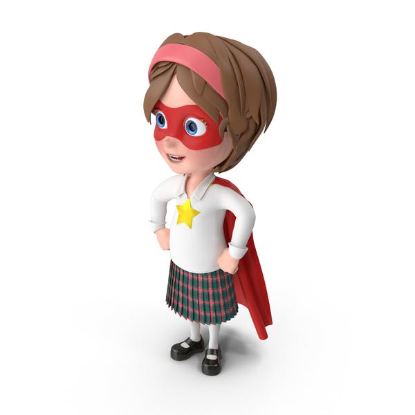 Cartoon Girl Meghan Superhero