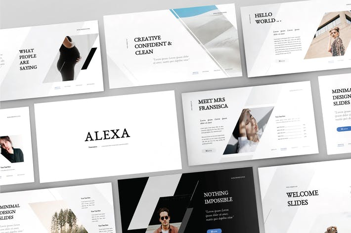 Thumbnail for ALEXA - Google Slide Template V91