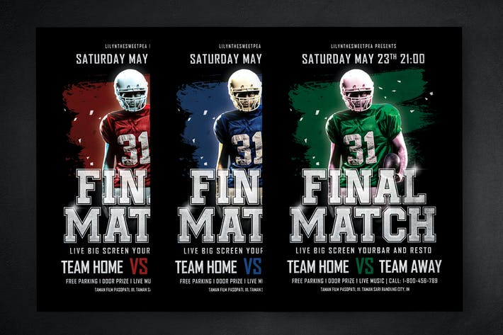 Cover Image For Final Match Football Flyer