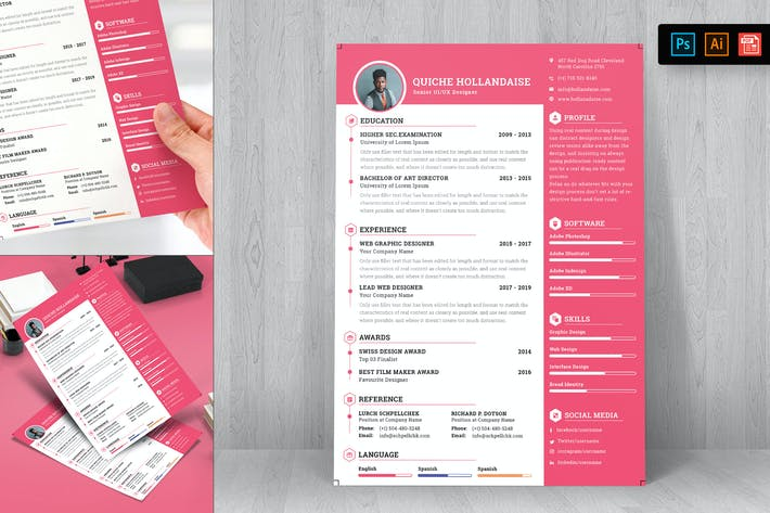Thumbnail for Resume CV Template-36