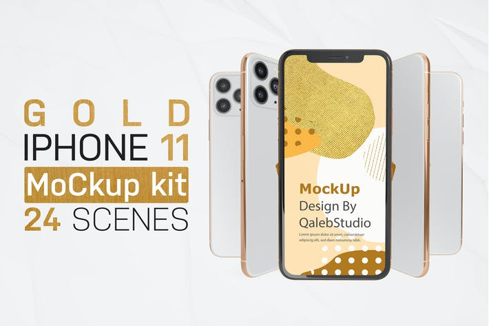 Thumbnail for Gold & White iPhone 11 Kit