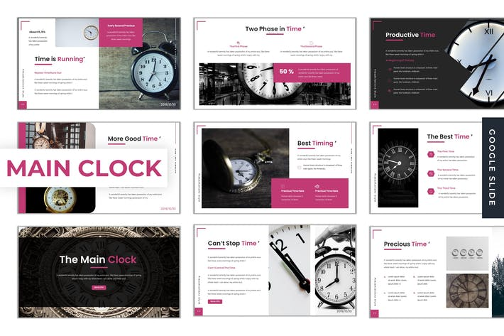 Thumbnail for The Main Clock - Google Slide Template